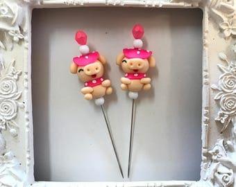 Pink Pig Counting Pin-Lapel Pin-Scarf Pin