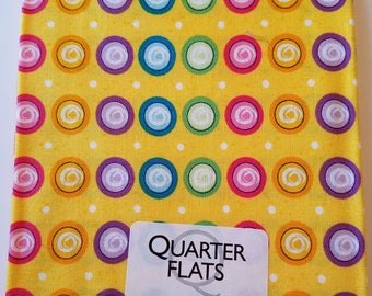 Yellow With Circles Fat Quarter