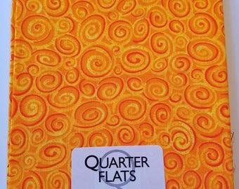 Orange Swirls Fat Quarter