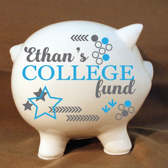 8 Custom College Fund Piggy Bank Custom Baby Gift