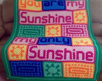 Handmade Sunshine Crochet Blanket