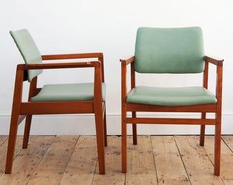 Mid Century Carver Armchair - 2 Available