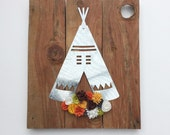 Metal Teepee with Felt Flowers