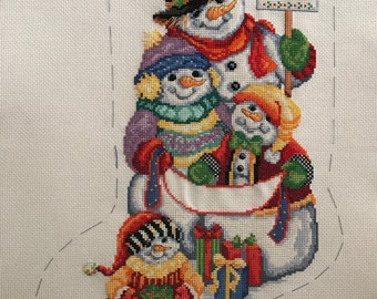 Snow Folk Christmas Stocking