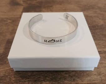 Kentucky Home Hand-stamped Cuff Bracelet