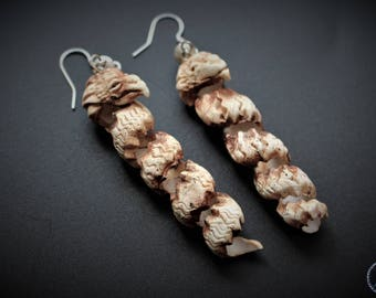 polymer clay earrings twisted griffins