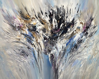 Nature Black And White M 1. abstracted original, contemporary artwork. vibrant painting inspired by Nature