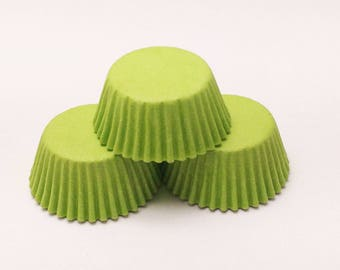 48 Lime Green Standard Size Cupcake Liners Baking Cups Greaseproof Wrappers