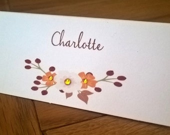Handmade Personalised Thanksgiving Place Name Cards