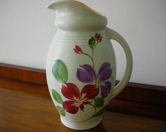 1930's Radford Pottery (England) Hand Painted Jug / Pitcher
