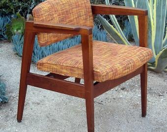 1970's Gunlocke walnut office/lounge chairs