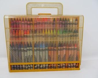 Vintage Crayola Crayon Caddy Organizer - Full of 72 Crayola Crayons