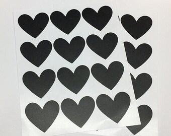 Chalkboard Heart Stickers.