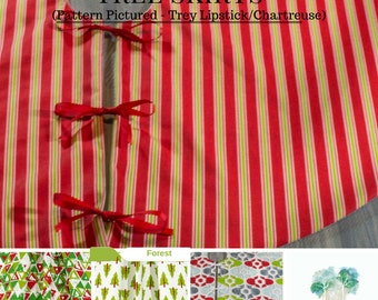 """Christmas in July - Christmas Tree Skirt - Lined Tree Skirt - 52"""" - 36"""" - and 24"""" Tree Skirt - Premier Prints Holiday Fabrics"""