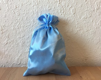 Gift Wrap - Light Blue Satin Pouch (Add on item only)