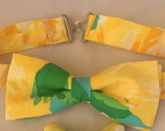 Lilly Pulitzer Yellow First Impression Bow Tie