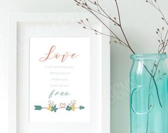 Mumford&Sons Lyric Love Print, Instant Download, Printable Art, Digital Print, Mumford and Sons Print