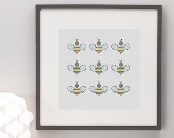 Bees Cross Stitch Pattern