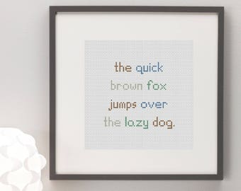 The Quick Brown Fox Cross Stitch Pattern