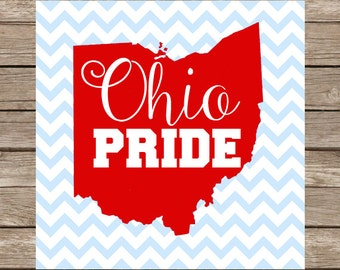 Ohio Pride SVG Ohio SVG Ohio State SVG Ohio State Buckeyes svg Files Buckeyes dxf File  Cricut Silhouette cameo Cut Files state svg football