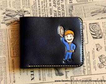 Fallout barter perk bifold wallet (leather wallet, custom wallet, short wallet, bifold, fallout,barter perk)