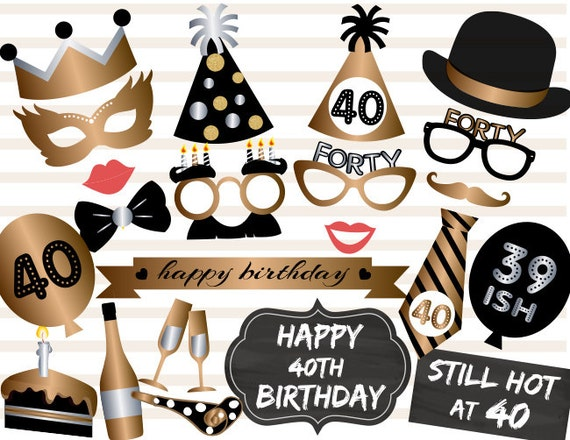 photo relating to Free Printable Photo Booth Props Birthday referred to as Cost-free Printable 30th Birthday Photograph Booth Props Absolutely free