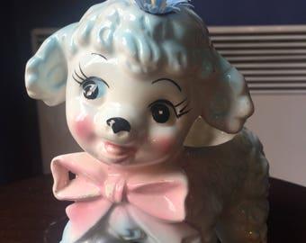 Big sale Vintage baby shower planter lamb   Japan #155 1950s  kitschy cuteness
