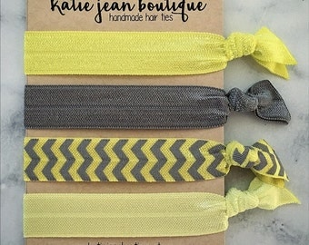 Elastic Hair Ties - Yoga Yellow Collection