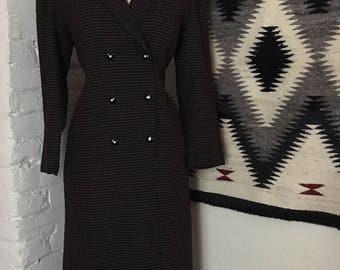 Vintage Polka Dot One Piece Suit Style Dress