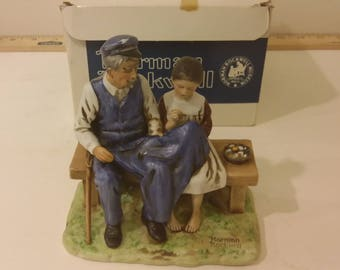 """Norman Rockwell """" The Lighthouse Keeper's Daughter """" Figurine, 1979"""