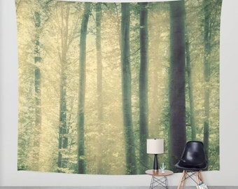 SALE  wall tapestry, wall hanging, forest tapestry, nature theme, bohemian, trees, leaves, autumn, three sizes