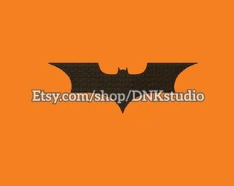 Batman Logo Symbol Embroidery Design Batarang - 5 Sizes - INSTANT DOWNLOAD