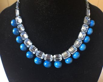 Blue Necklace 1950s