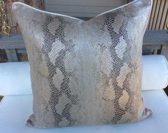 "Kelly Wearstler ""Serpent"" Italian Linen GORGEOUS pillow cover"