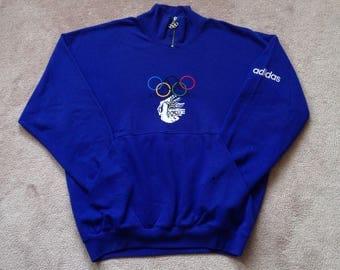 Vintage 1988 Adidas Winter games Olympics XV crewneck sweatshirt