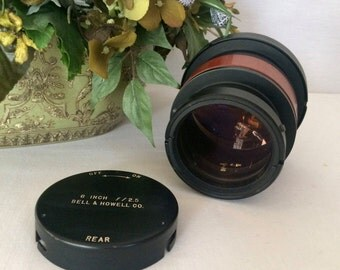 SALE...Very Rare Vintage Bell & Howell Type 1 lens, 6 inch f/2.5 E.F.L. 154mm
