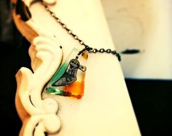 Steampunk Bronze Necklace