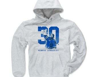 Henrik Lundqvist Grunge B New York R Officially Licensed NHLPA Hoodie S-3XL