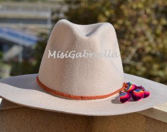 Sale............30% off........WINTER HAT, POMPON Hat, Folk Hat, Beige Hat, Ethnic Hat