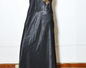 Black Lace-Trimmed Dress