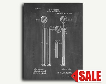 Patent Print - Dental Mirror Patent Wall Art Poster