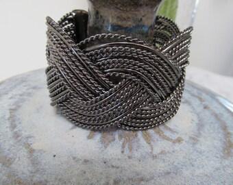 Cuff Bracelet of Braided Twisted Wire