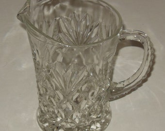 Small Clear Glass Pitcher Creamer 4 1/2 Inch Crystal