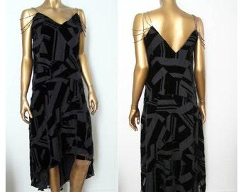 Lethal Black Dress Flapper 1920s Gatsby Downton Abbey dress XS