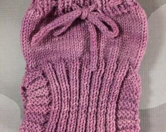 Custom Wool Soaker - Hand Knit Wool Soaker - Wool Diaper Cover - Diaper Cover - Lavender Wool Diaper Cover