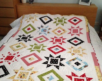 Single Handmade Patchwork Quilt Pirate Themed