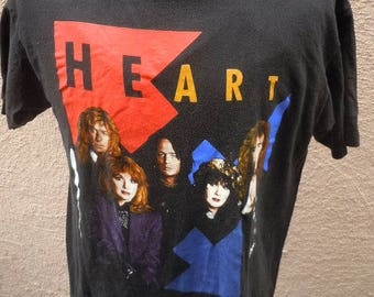 Size XL (47) ** 1990 Heart Concert Shirt (Double Sided)