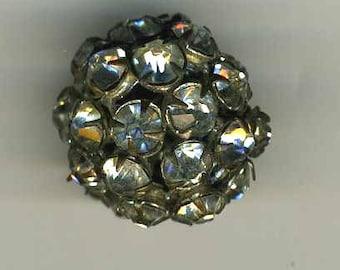 Vintage Button Rhinestone Ball