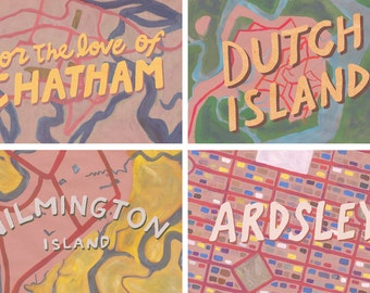 For the Love of Chatham Postcard Set of 4