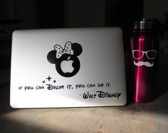 Laptop decal – Laptop Sticker – Macbook Pro decal – Macbook Air decal – Car window – Hipster - Disney - Minnie Mouse